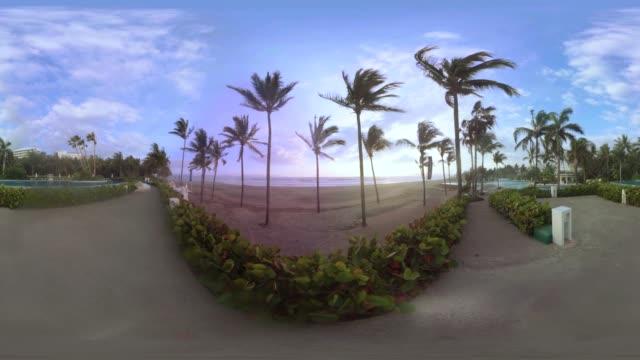 A scenic 360VR shot a Mexican beach