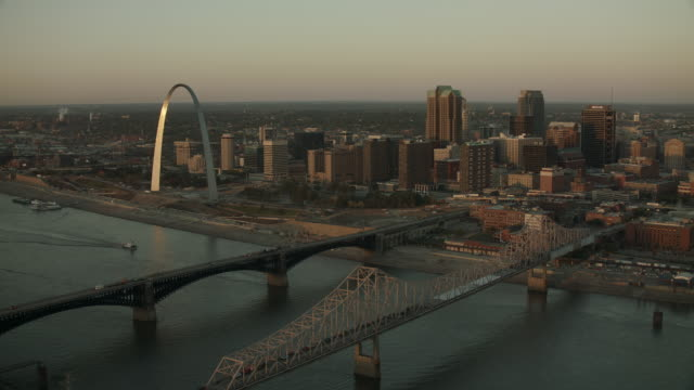 Scenic Aerial Of Downtown St Louis