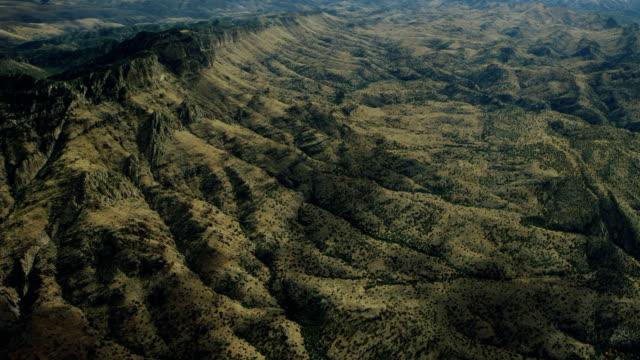 Scenic Aerial Shot Of Arid Escarpment In Arizona