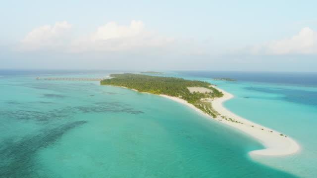 WS-Scenic Luftbild idyllische tropische Insel, Malediven