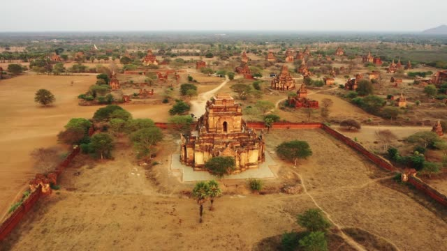 Scenic aerial view of Bagan Heritage Site