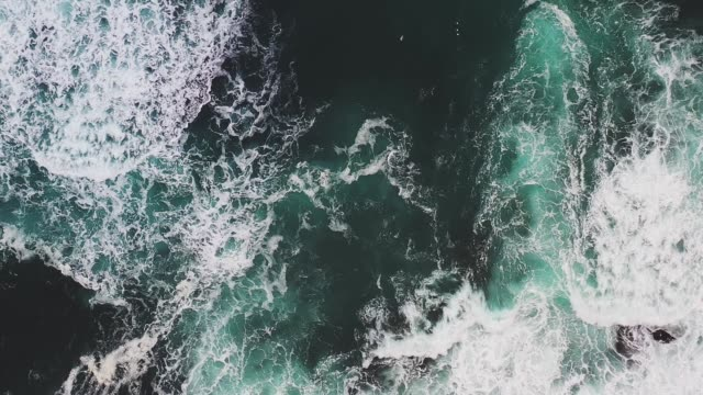 scenic aerial view of seaside in iceland - black sand stock videos & royalty-free footage