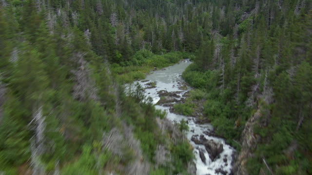 scenic alaskan landscape with river - extreme terrain stock videos & royalty-free footage
