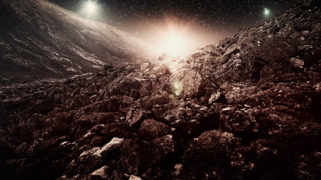 scenic alien planet landscape - immaginazione video stock e b–roll