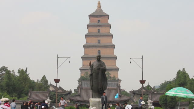ms scenic area of big wild goose pagoda/xian,shaanxi,china - male likeness stock videos & royalty-free footage