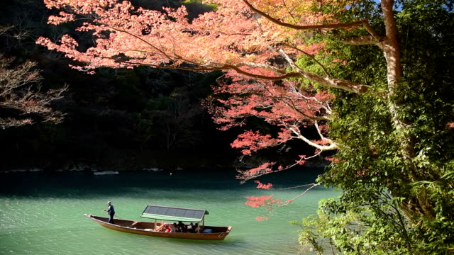 scenic beauty tourists travel arashiyama w - kyoto stock videos and b-roll footage