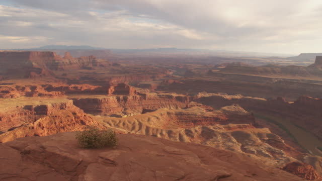 Scenic canyon landscape in Utah, tracking shot