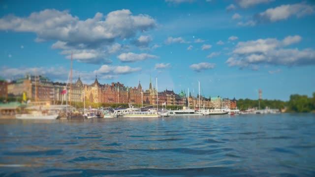 stockvideo's en b-roll-footage met schilderachtig stadsgezicht van stockholm, zweden - diavoorstelling
