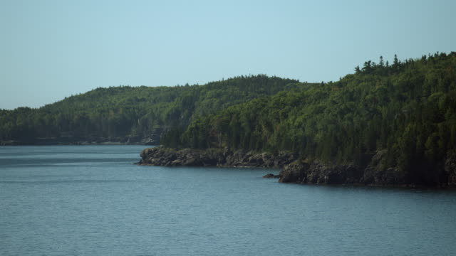 scenic coastline near bar harbor maine - maine stock videos & royalty-free footage