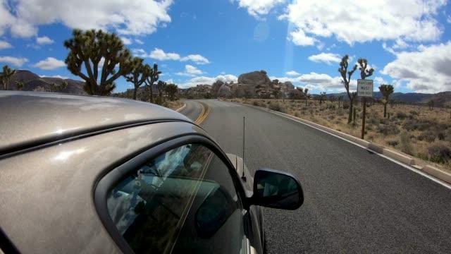 scenic drive - joshua tree national park stock videos & royalty-free footage