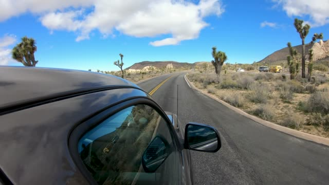 scenic drive - joshua tree national park stock videos & royalty-free footage