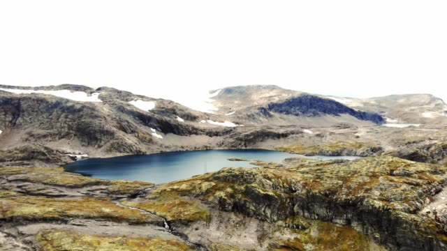 scenic glacier, fjord landscape in scandinavia, norway - drone footage - stationary stock videos & royalty-free footage