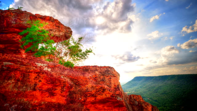 scenic high angle on mountain time lapse (hdr) - high dynamic range imaging stock videos and b-roll footage
