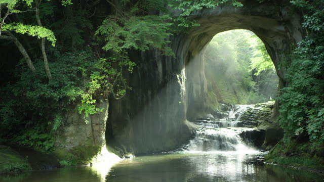 scenic kameiwa cave in japan, lockdown - cave stock videos & royalty-free footage