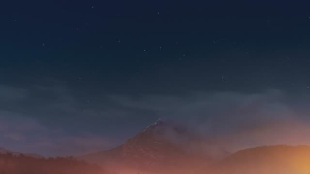 scenic mountain, time lapse - star shape stock videos & royalty-free footage