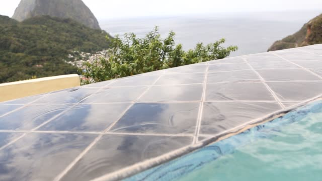 scenic of soufriere - st. lucia stock videos & royalty-free footage