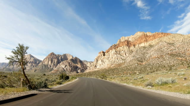 scenic road near las vegas - mountain road stock videos & royalty-free footage