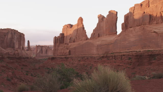 Scenic rock faces in Utah, wide