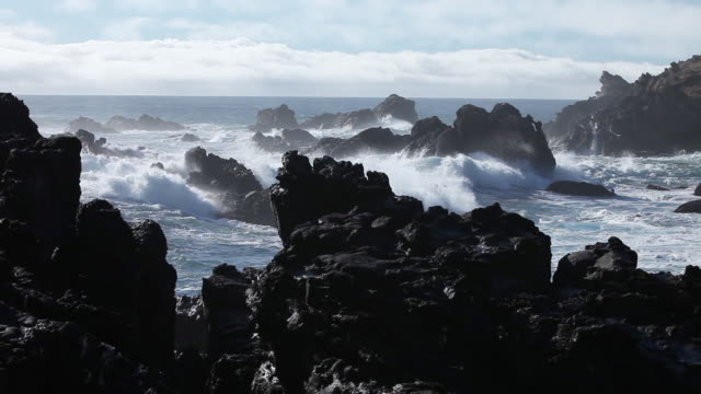 scenic rocky coastline, wide - water's edge stock videos & royalty-free footage