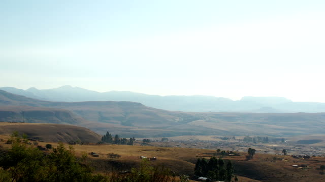 Scenic shots of Drakensberg Mountains/ South Africa