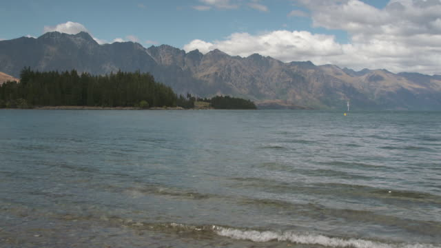 Scenic shots of Queenstown and Lake Wakatipu South Island New Zealand