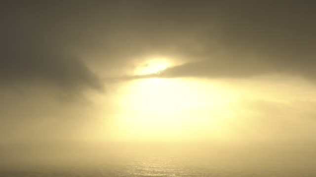 scenic sunset over ocean clouds, wide - wide stock videos and b-roll footage