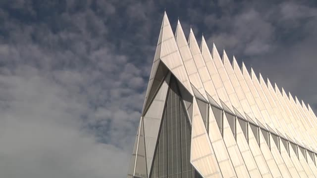 scenic time lapse shots from around the terrazzo at the air force academy. includes a bronze statue of brigadier general james risner, the... - cadet stock videos & royalty-free footage