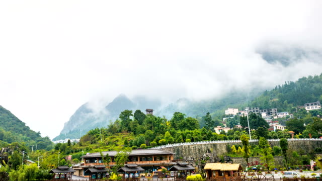 Scenic Tribe Village in Valley in the Morning, Time lapse video