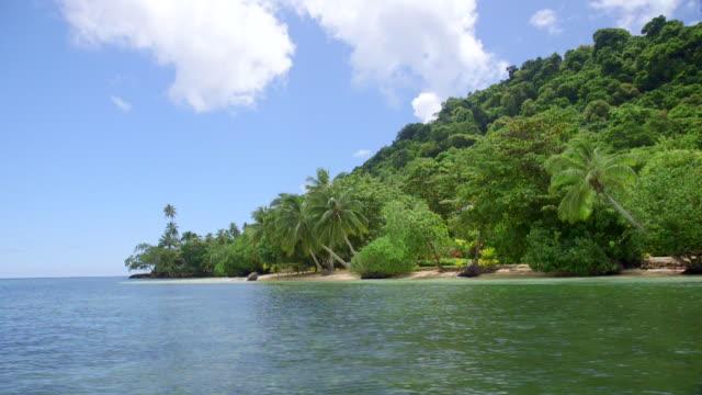 a scenic tropical island in fiji. - fiji stock videos & royalty-free footage