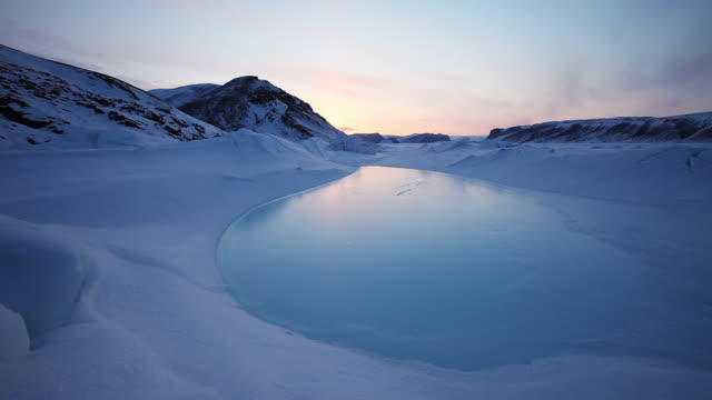 scenic tundra landscape in greenland, wide - wide stock videos & royalty-free footage