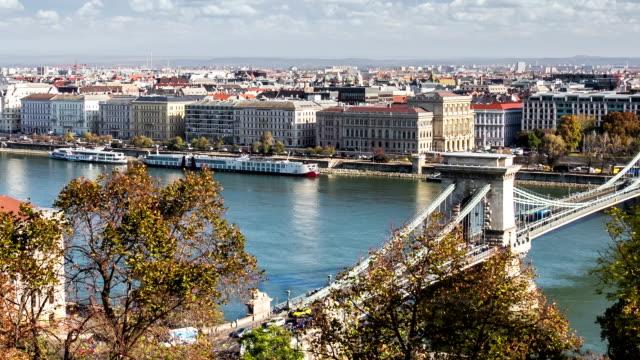 vidéos et rushes de vue scénique à budapest, hongrie, danube - culture de l'europe de l'est