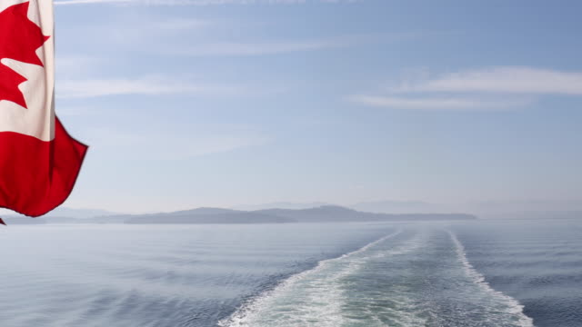 scenic view from moving ferry boat - ship stock videos & royalty-free footage
