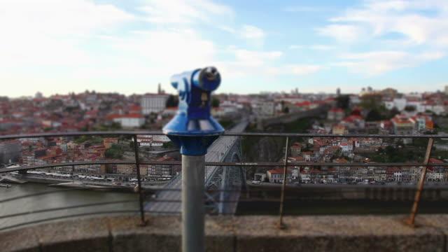 vídeos de stock, filmes e b-roll de vista panorâmica do topo do porto - ponto de observação