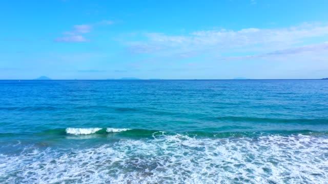 scenic view of beach,shizuoka,japan - horizon over water stock videos & royalty-free footage