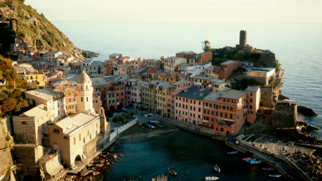 Scenic view of Cinque Terre seaside  in Italy