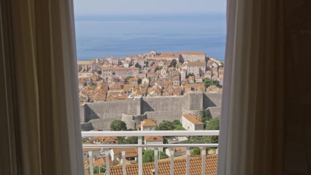 MS Scenic view of Dubrovnik,Croatia from sunny balcony