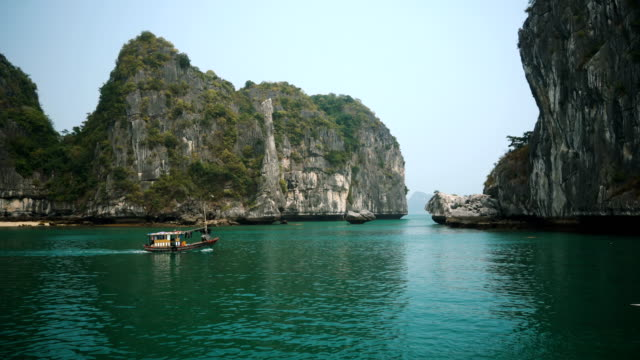 scenic view of halong bay - vietnam stock videos & royalty-free footage