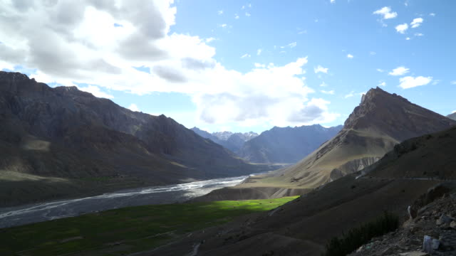 scenic view of mountain at spiti - patchwork landscape stock videos and b-roll footage
