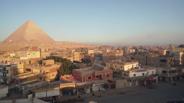 scenic view of pyramids in giza  at sunset - awe stock videos & royalty-free footage