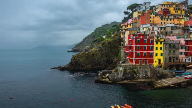 Scenic view of Riomaggiore, Cinque Terre National Park, Liguria, La Spezia, Italy
