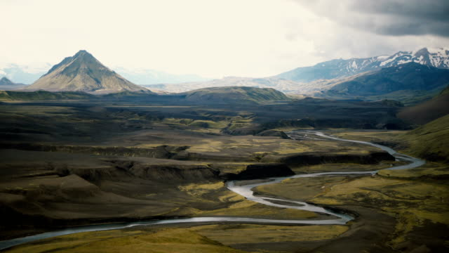 Scenic view of  river in Iceland Highlands