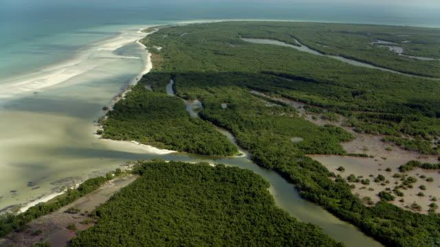 vídeos de stock, filmes e b-roll de scenic view of yucatan coastline - yucatán