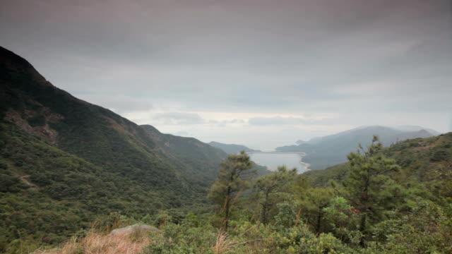 scenic view on lantau island, hong kong - lantau stock videos and b-roll footage