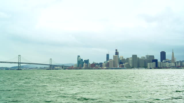 scenic view to san francisco downtown - san francisco bay stock videos and b-roll footage
