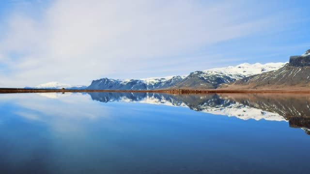 WS Scenic view tranquil mountains and lake,Iceland