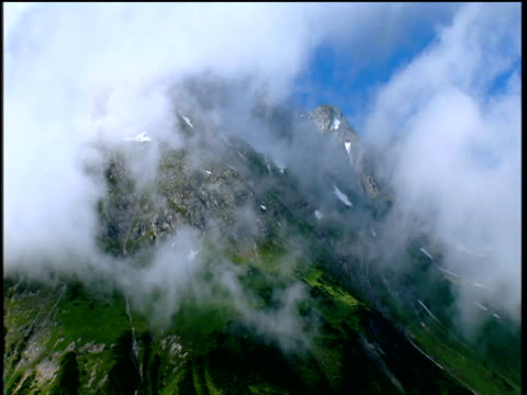 Scenic views of natural valley pastureland and rural settlements Bavarian area of Austrian Alps