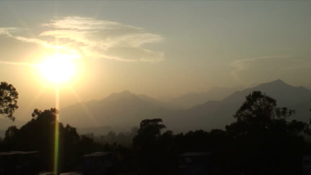 ws zo pan scenic with evening sun, ming tombs, china - ming tombs stock videos and b-roll footage