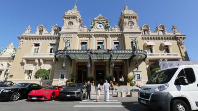 scenics of monaco showing off the city and various different vistas on may 19 2015 shots a view of the casino de montecarlo through a round mirror... - monaco stock videos and b-roll footage