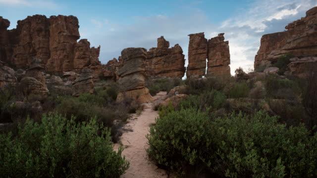 stockvideo's en b-roll-footage met t/l scenics of sandstone rock formations in truitjieskraal nature reserve, cederberg, south africa - sedimentary rock