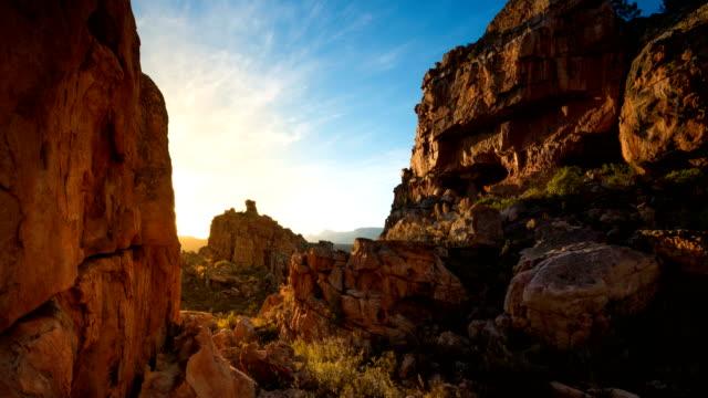 stockvideo's en b-roll-footage met t/l scenics of sandstone rock formations in truitjieskraal nature reserve/ cederberg/ south africa - sedimentary rock